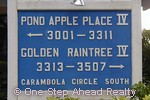 sign for Pond Apple Place IV of The Township