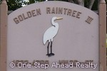 sign for Golden Raintree III of The Township