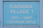sign for Karanda I of The Township