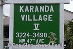 sign for Karanda V of The Township