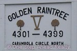sign for Golden Raintree V of The Township