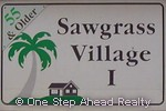 sign for Sawgrass Village I of The Township