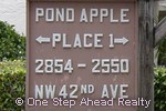 sign for Pond Apple Place I of The Township