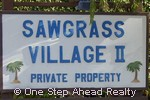 sign for Sawgrass Village II of The Township